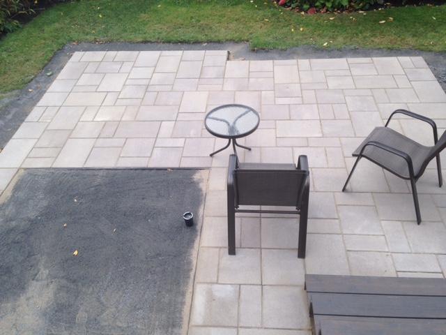 Terrasse pavé
